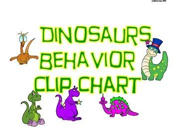 Dinosaur Themed Behavior Clip Chart & Management System