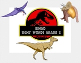 Dinosaur Themed Bingo Game- Sight Words for Grade 2