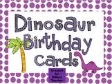 Dinosaur Themed Birthday Cards