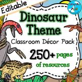 Dinosaur Themed Classroom Decor Pack ⭐Editable⭐