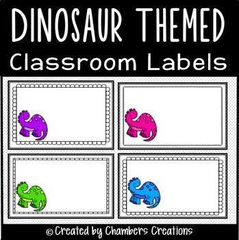 Dinosaur Themed Classroom Labels!