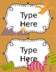 Dinosaur Themed Classroom Labels - EDITABLE!