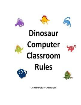 Dinosaur Themed Computer Classroom Rules