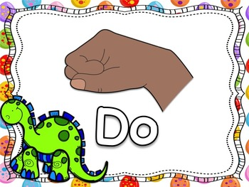 Dinosaur Themed Curwen/Kodaly Hand Sign Posers