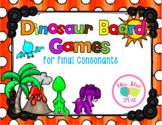 Dinosaur Themed Game Boards for Final Consonants