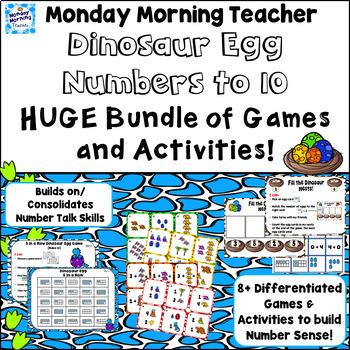 8+ Dinosaur Games, Activities, Printables, Dot Cards: fun Numbers 1-10 practice!