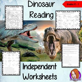 Dinosaur Themed Independent Reading Work