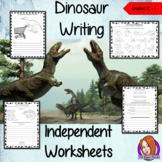 Dinosaur Themed Independent Writing Work Grade K-1