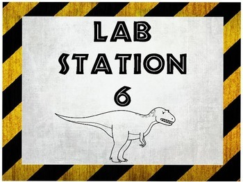 Dinosaur Themed Lab Station Labels!