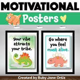 Dinosaur Classroom Decor - Posters for Back to School Bulletin Boards