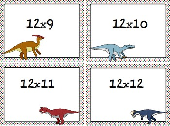 Dinosaur Themed Multiplication Fact Center