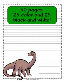 Dinosaur Themed Notebooking Paper - 50 Pages!