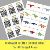 Dinosaur Themed Open Ended QR Code Game - For All Subject Areas