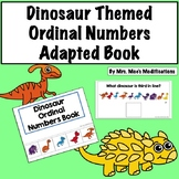Dinosaur Themed Ordinal Numbers Adapted Book