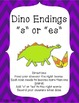 Dinosaur Themed Plural Endings S and ES Activities