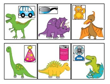 Dinosaur Themed Rhyming Match-Up