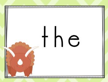 Dinosaur Themed Sight Words