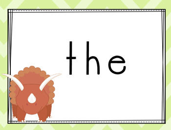 (super discount) Dinosaur Themed Sight Words