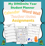 Dinosaur Theme Planner for Improved Communication 2017/201