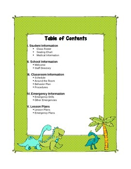 Dinosaur Themed Substitute Materials