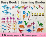 Dinosaur Busy Book | Learning Binders | Toddlers and Presc