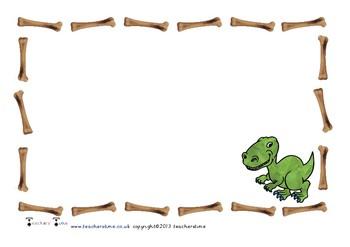 Dinosaur Themed Writing Paper