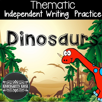 Dinosaur Theme Independent Writing Practice