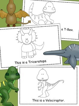 "Dinosaur ""This is a..."" Emergent Reader"