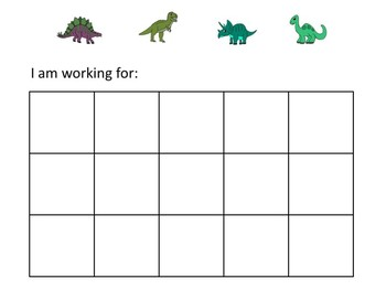Dinosaur Token Economy (Includes 5 Point Charts)
