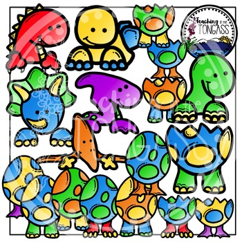 Dinosaur Page Toppers Clipart Bundle