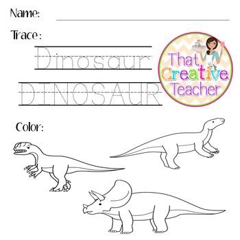 Dinosaur Trace & Color Activity