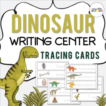 Dinosaur Writing Center Cards