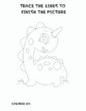 Dinosaur Tracing and Coloring Book