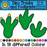Dinosaur Tracks and Footprints Clip Art