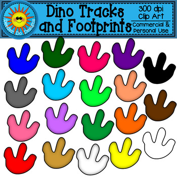 Dinosaur Tracks and Footprints Clip Art