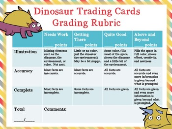 Dinosaur Trading Cards: Inquiry- and Standards-Based