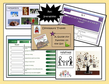 Dinosaur Travels~Harcourt Smartboard Lesson