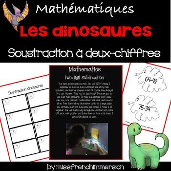 Les dinosaures - Soustraction à deux-chiffres