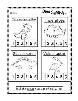 Dinosaur Unit {Literacy and Math Mini Unit}
