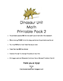 Dinosaur Math Clip Cards
