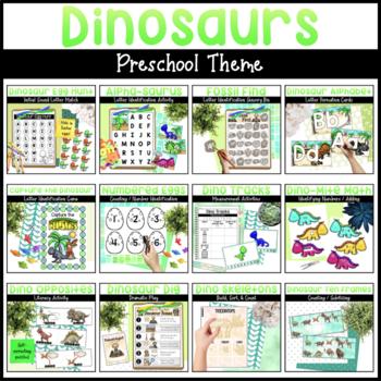 Dinosaurs Bundle   Math & Literacy Activities