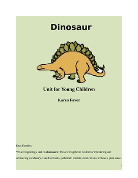 Dinosaur Unit for Young Children
