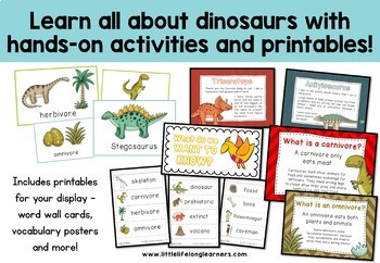Dinosaur Unit of Work - Literacy, Numeracy, Science and Craft Resources