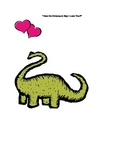 Dinosaur Valentine's Day Language Arts Activity