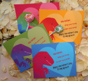 Dinosaur Valentines for Teachers