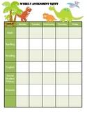 Dinosaur Weekly Assignement Sheet x3