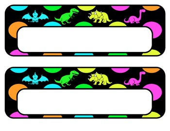 Dinosaur Welcome Banner with Editable Guys and Nametags