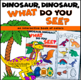 Dinosaur What Do You See Interactive Book of Colors