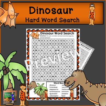 Dinosaur Word Search *Hard