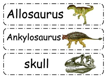 Dinosaur Word Wall Cards
